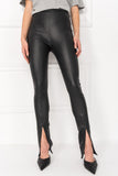 LONDA Black Stretch Leather Leggings