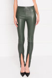 LONDA Deep Pine Stretch Leather Leggings
