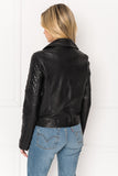MARILLA Quilted Leather Biker Jacket