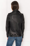MONA Leather Boyfriend Biker Jacket