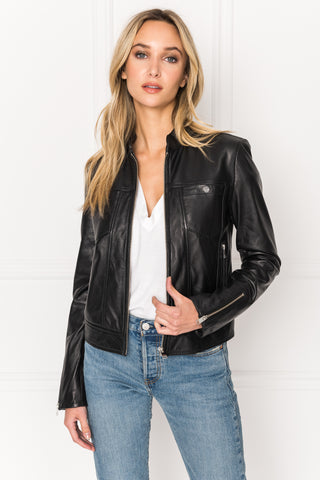 NATANA Black Snap Chest Pocket Jacket