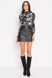 PEGGY Black Leather Mini Skirt
