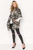 PENELOPE Plaid Cascade Wool Coat