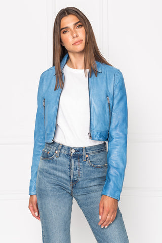 SACHA Crop Leather Jacket