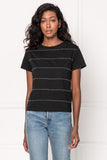 SAFFI Black Beaded T-Shirt