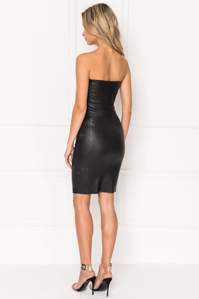 SELIMA Stretch Leather Tube Dress