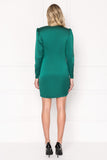 TALLIS Green Mini Sash Dress