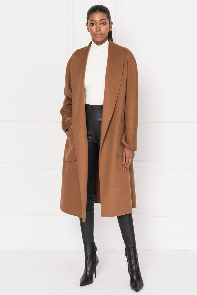 THARA Sierra Shawl Collar Wool Coat