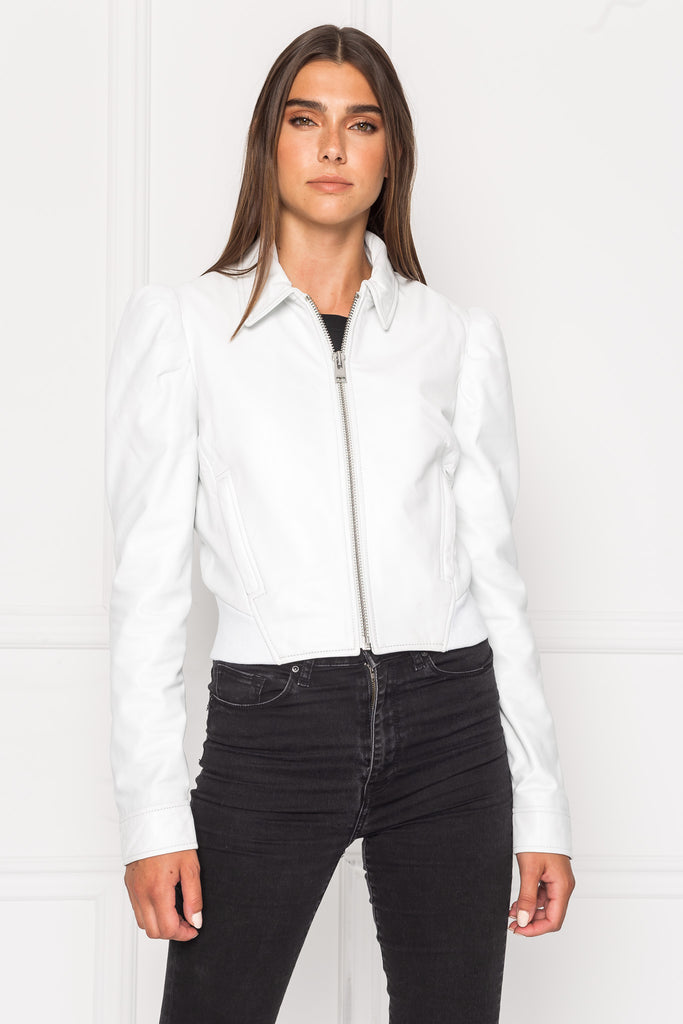 URSULA Leather Blouson Jacket