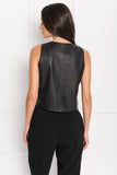 VAILEA Black Leather Camisole