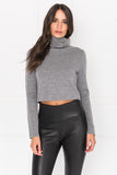 VALENDA Crop Turtleneck