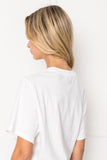 VANNA White Oversized T-Shirt Bodysuit