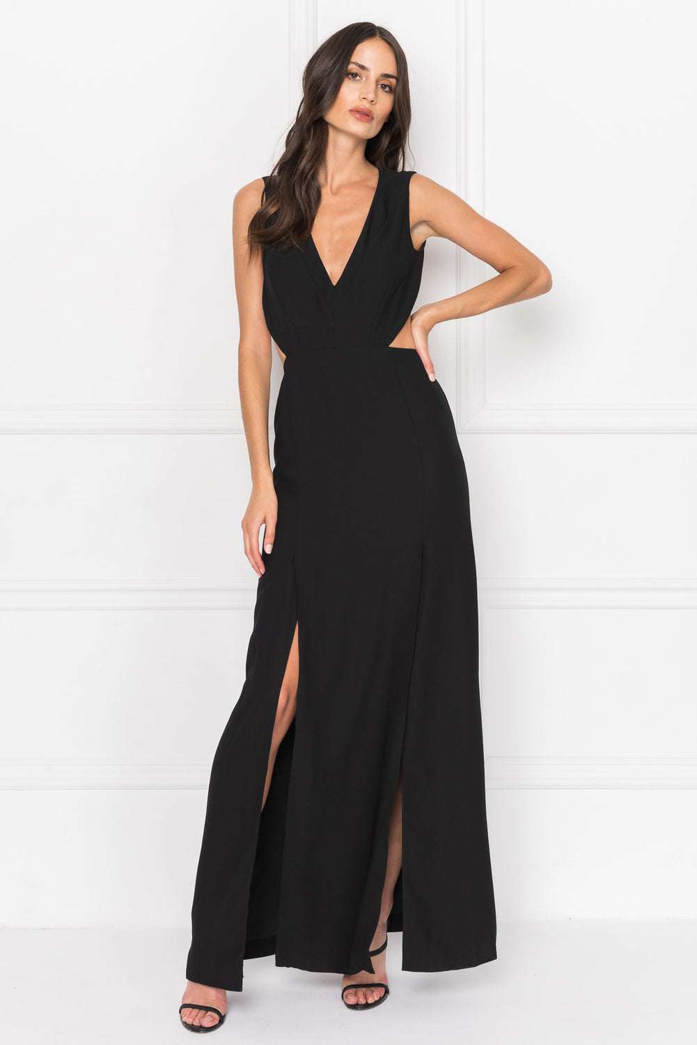 VILLETTA Cut Out Maxi Dress