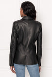 VIOLA Tailored Leather Blazer