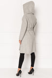 WILLOW Belted Wool Coat with Hood