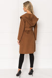 WILLOW Sierra Belted Wool Coat with Hood