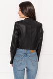 XERENA Cropped Leather Blazer