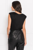 YAKIRA Black Draped Top