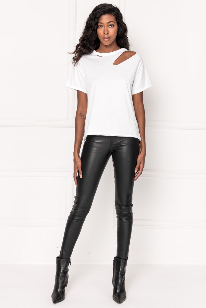 ZASHA White Distressed T-shirt