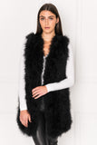 VERDA Black Feather Vest