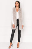 VERDA Grey Feather Vest