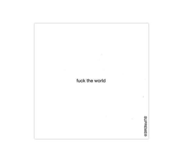 Supreme Fuck The World Sticker Pack