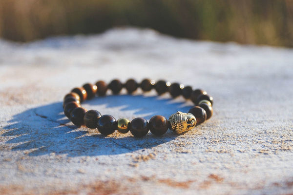 Buddha Beads (Cat Eye / Gold)
