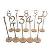Table Numbers 1-10 Rustic Wedding Wood Wooden