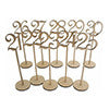 Table Numbers 21-30 Rustic Wedding Wood Wooden