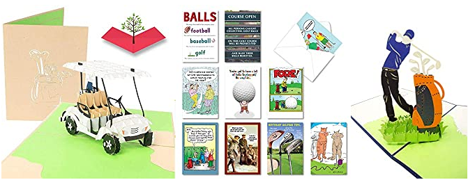 Gift idea for golf lover | Funny Birthday Cards | Greeting for Golfer