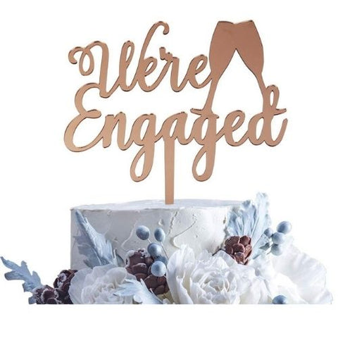 Engagement Cake Topper Ideas   Charmerry