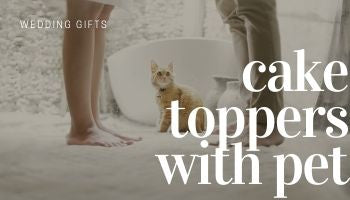 Pet Cake Toppers | Wedding Cake Top Decorations for Cat & Dog Lovers