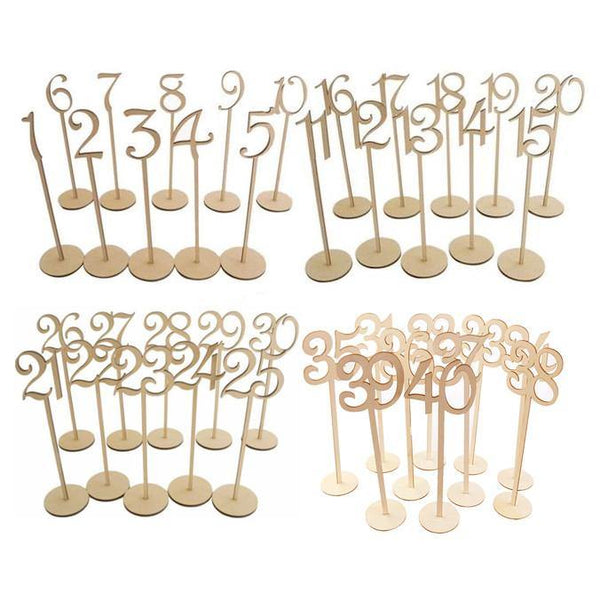 Table Numbers 1-40 (Set of 40) [Rustic Wedding /Wood]