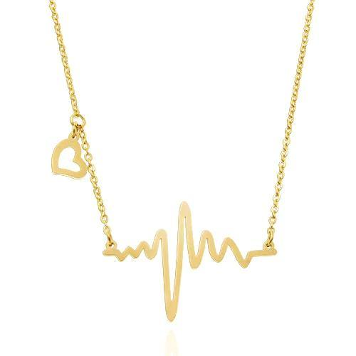 Heart Beat Electrocardiogram Rhythm Necklace