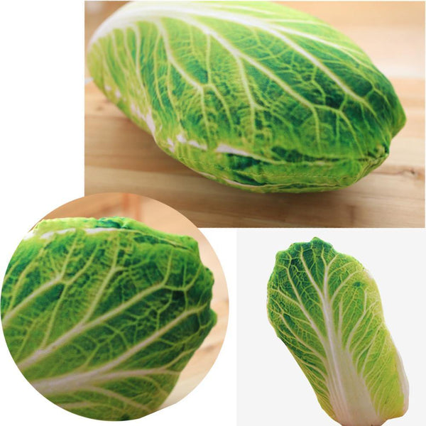 "Creative Stuffed Throw Pillow Gift /Unique Plush Soft Toy (Fun Unusual) [Vegetables /Cabbage /19.7""]"