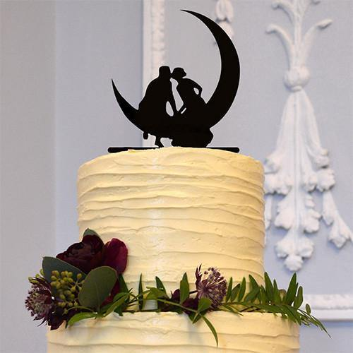 Wedding Cake Topper (Romantic Kiss /Hold Hands /Anniversary Engagement) - CHARMERRY