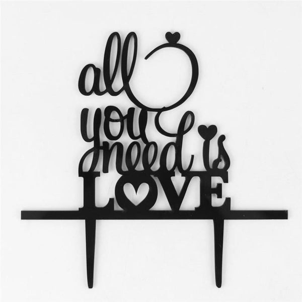 Creative Wedding Cake Topper /Cake Decoration (All you need is Love)