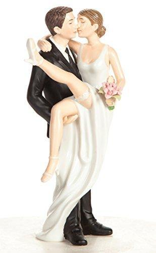 Threshold Wedding Cake Topper With Groom Holding Bride | Funny, Sexy, Humorous Figurine