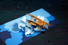 Load image into Gallery viewer, CUTEPOPUP Airplane Pop Up Card with Unique Design, Sophisticated Details Come in Shining Envelope - The Perfect Pilot Present for Your Daddy, Grandpa, Friends on Father's Day or any Occasion. - CHARMERRY