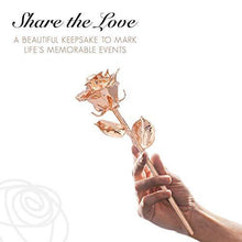 Load image into Gallery viewer, Real Rose Hand Dipped in Rose Gold | A Genuine Forever Rose to Last a Lifetime