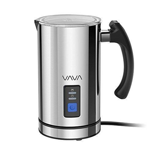 VAVA Milk Frother Electric Liquid Heater with Hot Milk Functionality, Stainless Steel Electric Milk Steamer for Latte, Cappuccino, chai latte, Hot Chocolate - CHARMERRY