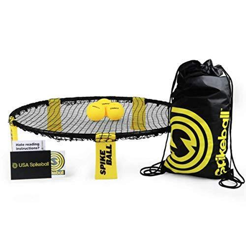 Spikeball Game Set (3 Ball Kit) - Game for The Backyard, Beach, Park, Indoors - CHARMERRY