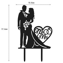Load image into Gallery viewer, Mr. and Mrs. Acrylic Wedding Cake Topper | Groom and Bride Cake Topper - CHARMERRY