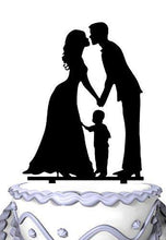 Load image into Gallery viewer, Family Wedding Cake Topper with Child | Bride, Groom with Little Boy | Happy Family Cake Topper - CHARMERRY