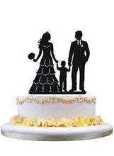 Load image into Gallery viewer, Family Cake Topper | Bride and Groom with Little Boy - CHARMERRY