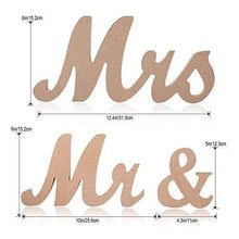 Load image into Gallery viewer, Mr. and Mrs. Rustic Wooden Vintage Wedding Table Signs | Rustic Party Table Wedding Decorations - CHARMERRY