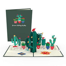 Load image into Gallery viewer, Lovepop Holiday Cactus Pop Up Card - 3D Cards, Holiday Pop Up Card, Christmas Pop Up Card, 3D Christmas Card, Merry Christmas Card - CHARMERRY