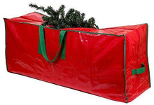 Load image into Gallery viewer, Christmas Tree Storage Bag - Stores a 7.5 Foot Disassembled Artificial Xmas Holiday Tree. Durable Waterproof Material to Protect Against Dust, Insects, and Moisture. Zippered Bag with Carry Handles. - CHARMERRY