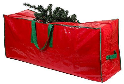 Christmas Tree Storage Bag - Stores a 7.5 Foot Disassembled Artificial Xmas Holiday Tree. Durable Waterproof Material to Protect Against Dust, Insects, and Moisture. Zippered Bag with Carry Handles. - CHARMERRY