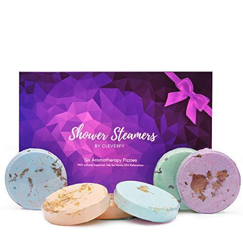 Cleverfy Aromatherapy Shower Steamers | Shower Bombs with Essential Oils Set | Gift Ideas, Beauty and Care for Women - Charmerry